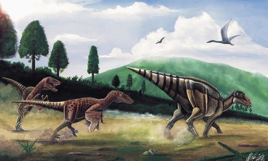Telmatosaurus dinosaur tumour face
