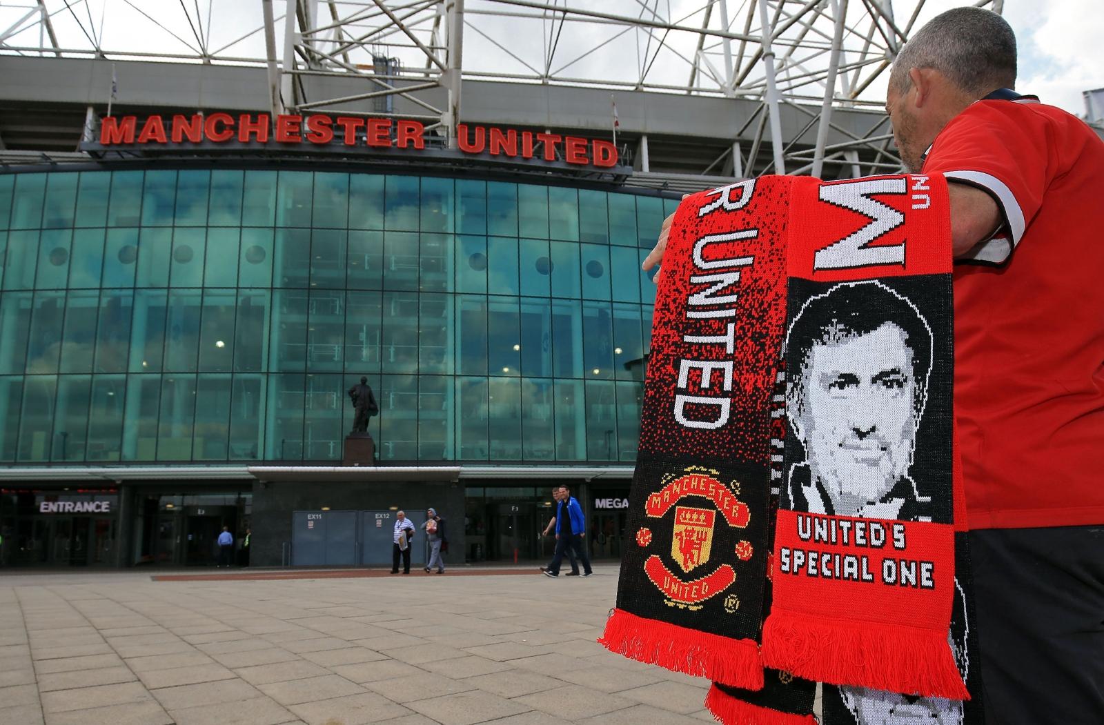 A United fan outside Old Trafford