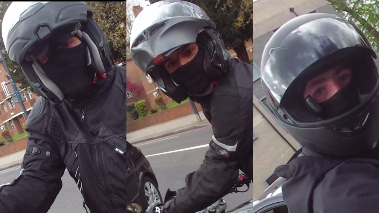 Lewisham Helmet Cam Captures Moment Moped Gang Tries To