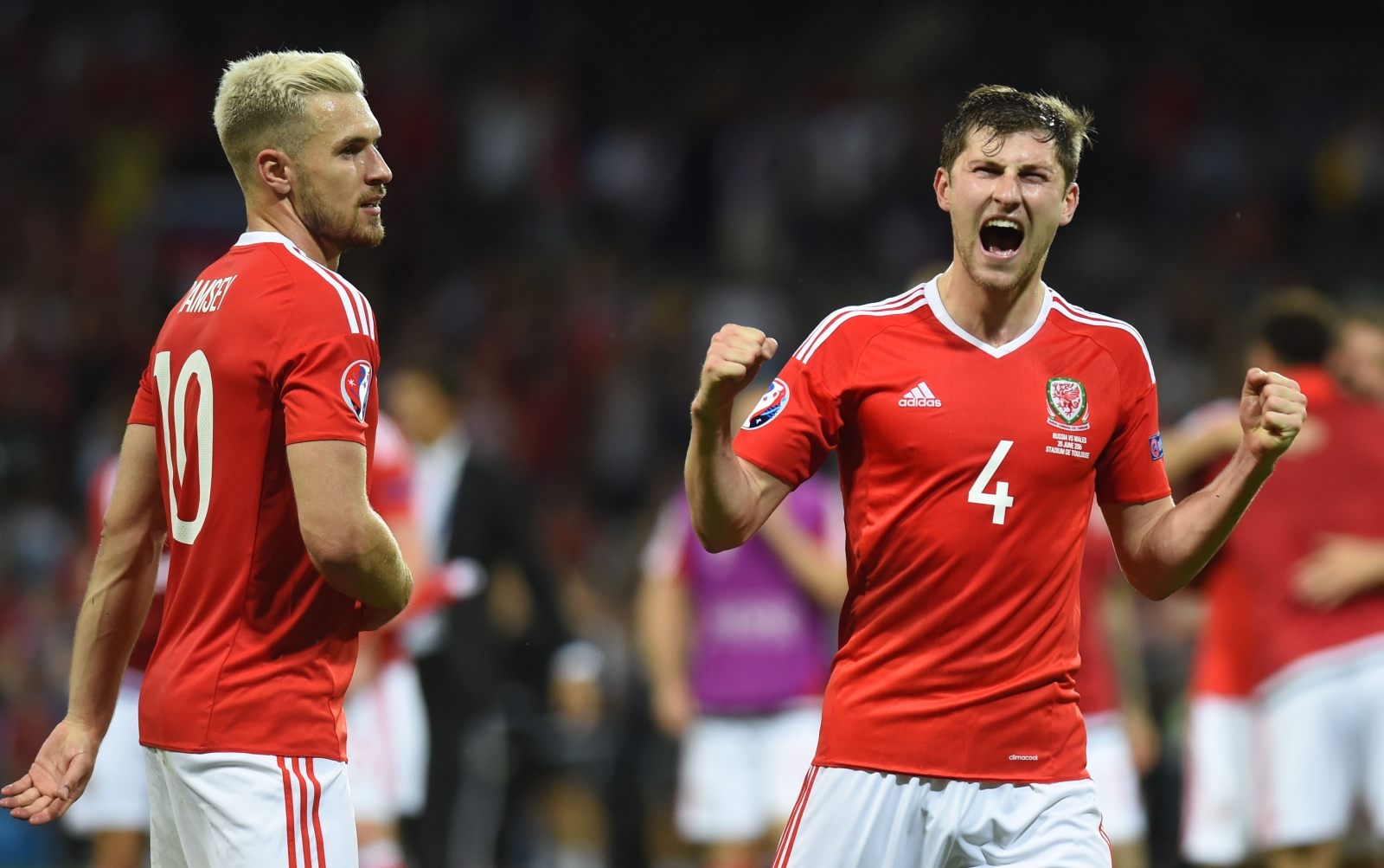 Aaron Ramsey and Ben Davies