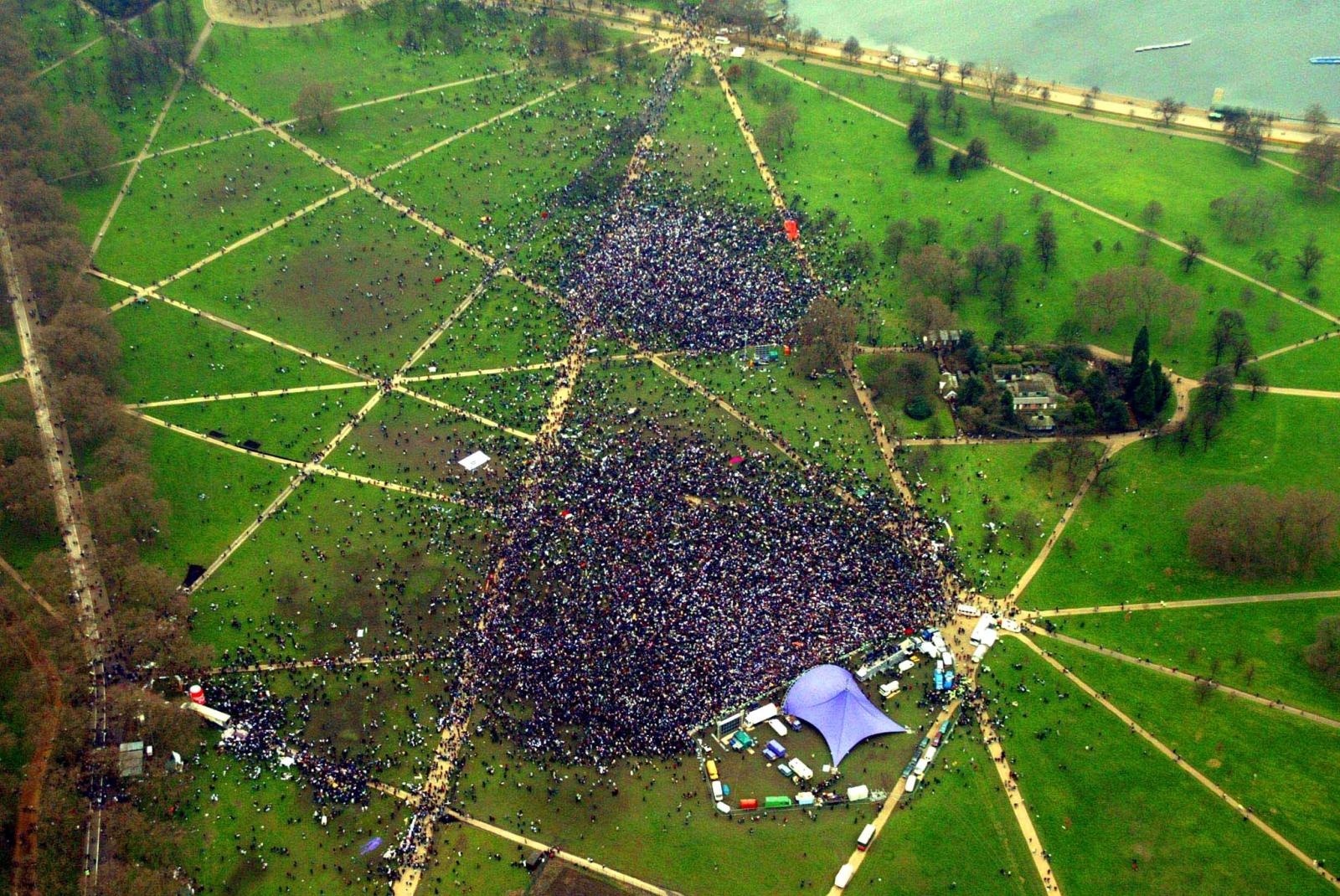 Iraq War protest, Hyde Park