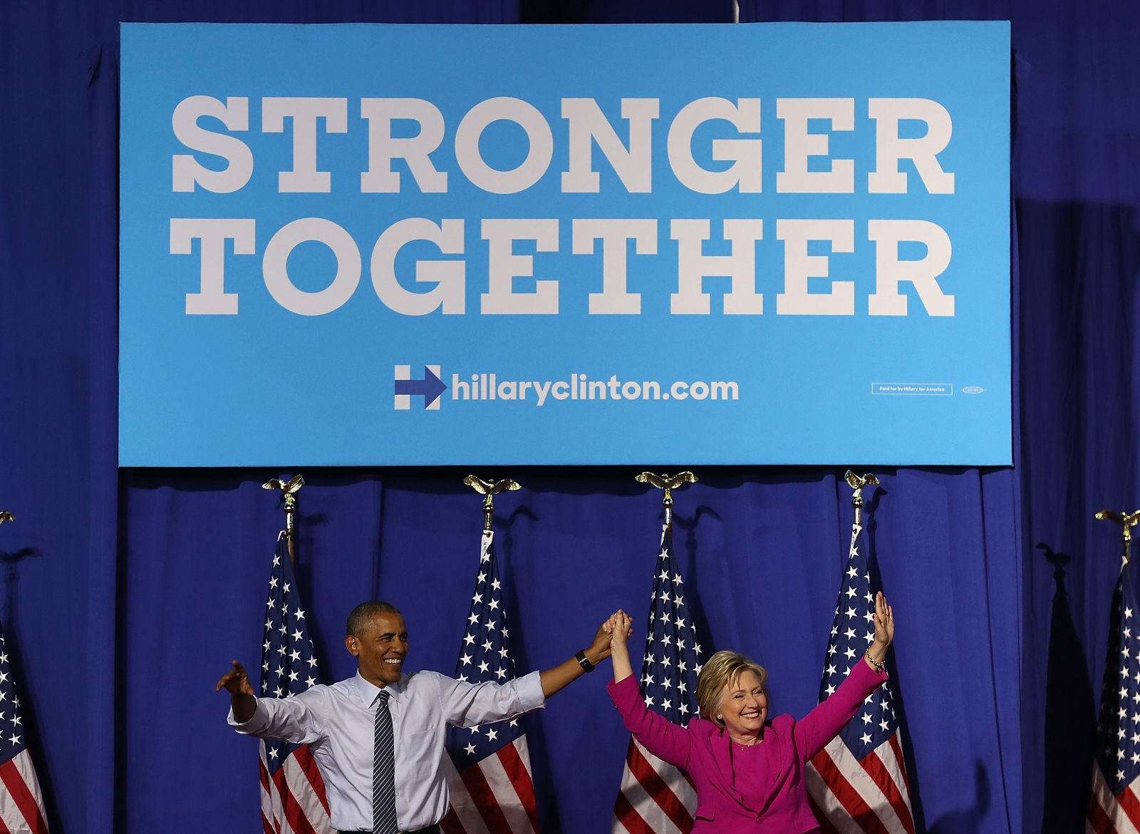 Hillary Clinton and Barack Obama