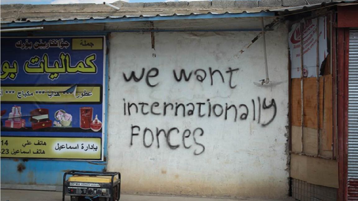 Yazidi graffiti