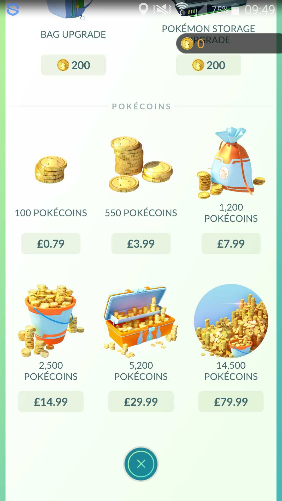 Pokemon Go Microtransactions Range From 79p To 79 99 For Pokecoins