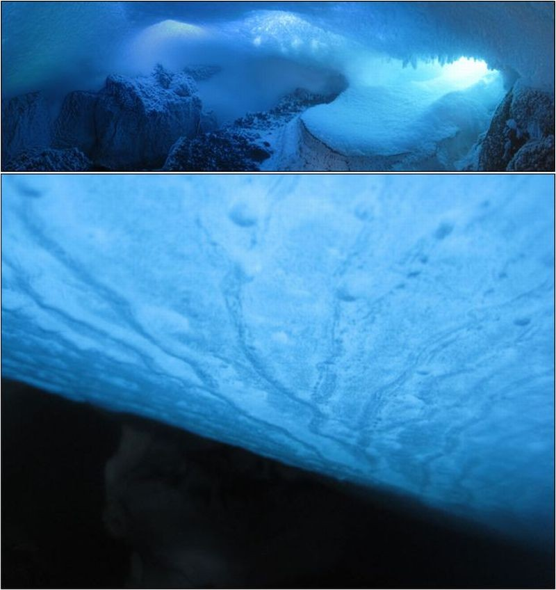 Stunning Images of Ice Caves on Antarctica's Active Volcano Mt. Erebus Revealed