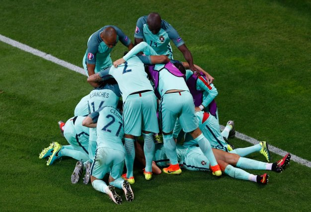 Portugal players celebrating
