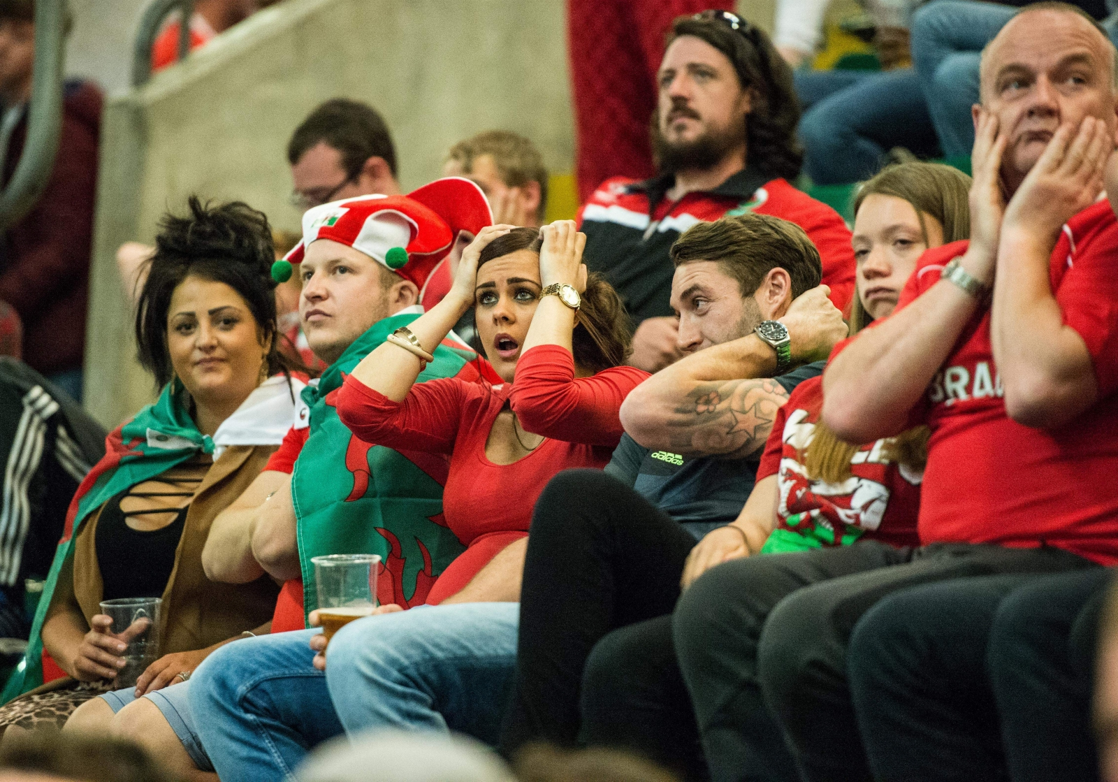 Wales fans can barely watch