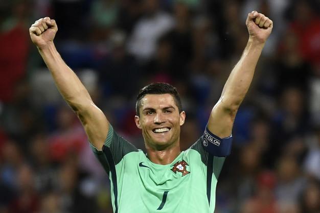 Cristiano Ronaldo celebrates victory