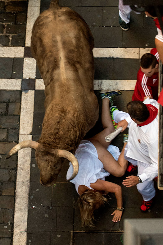 Pamplona running bulls 2016