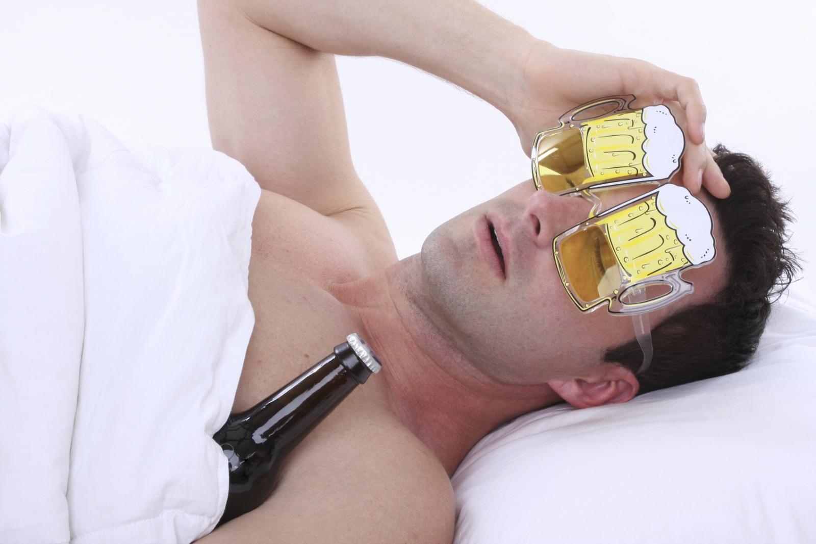Drunk man beer goggles
