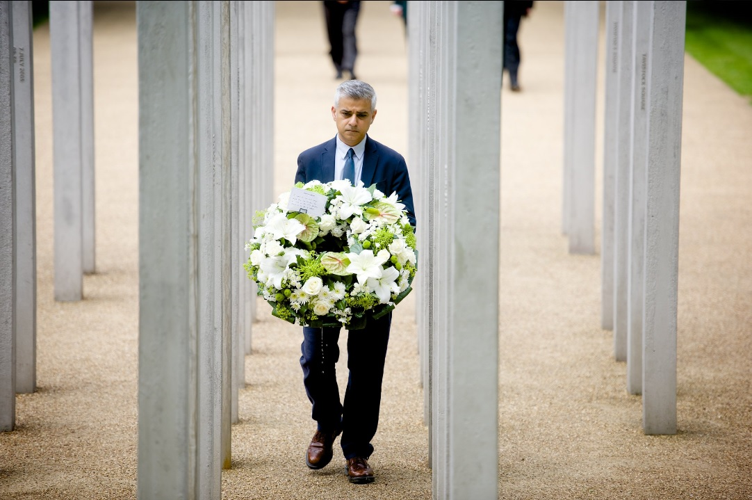 Sadiq Khan at 7/7 memorial