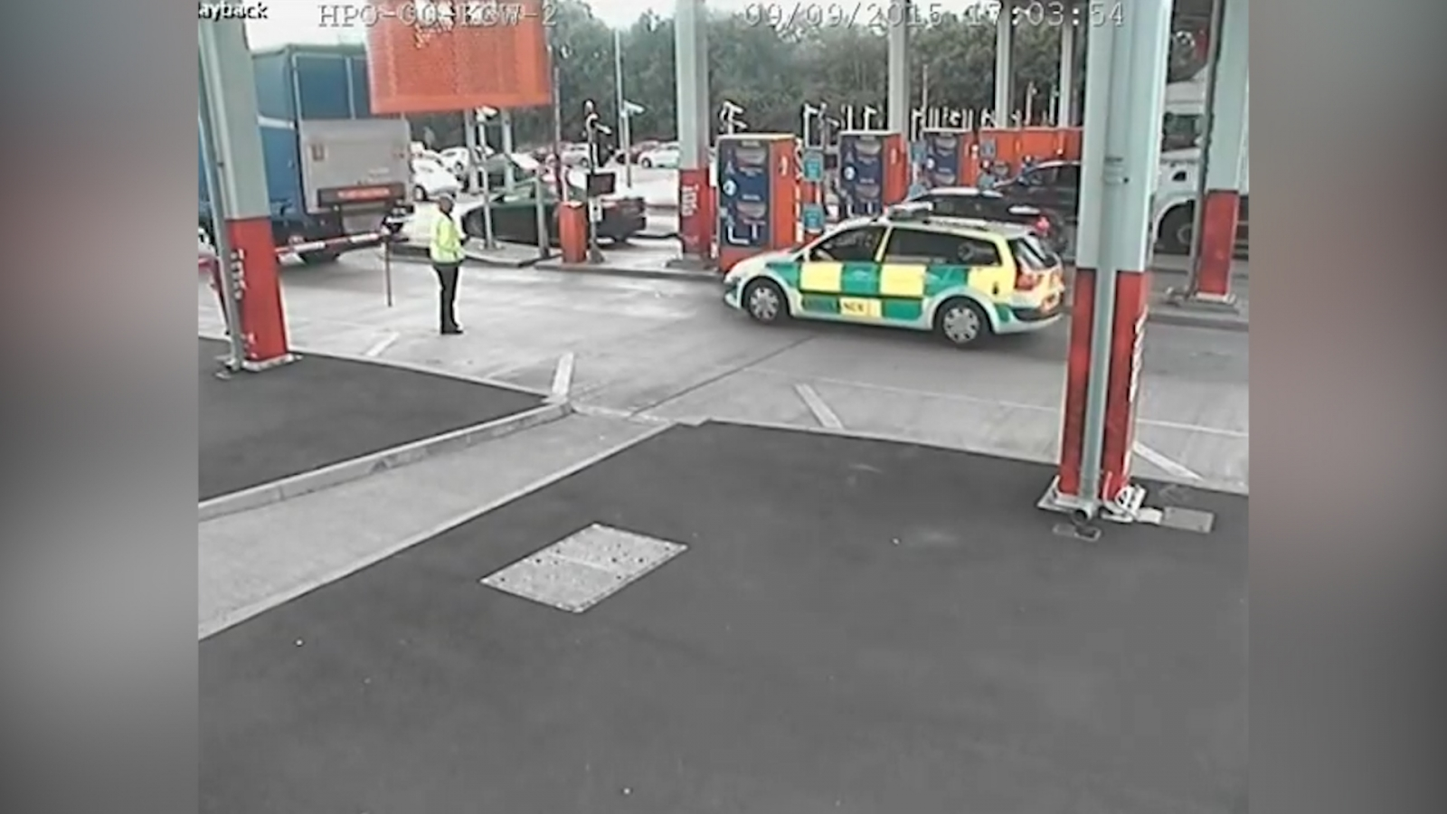 Fake ambulance jumps queues