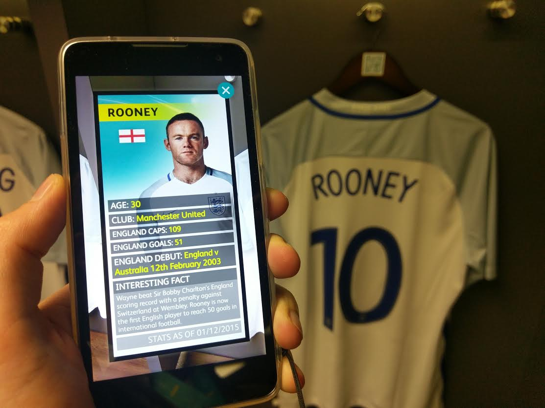 Wayne Rooney Wembley Stadium EE SmartGuide Tour