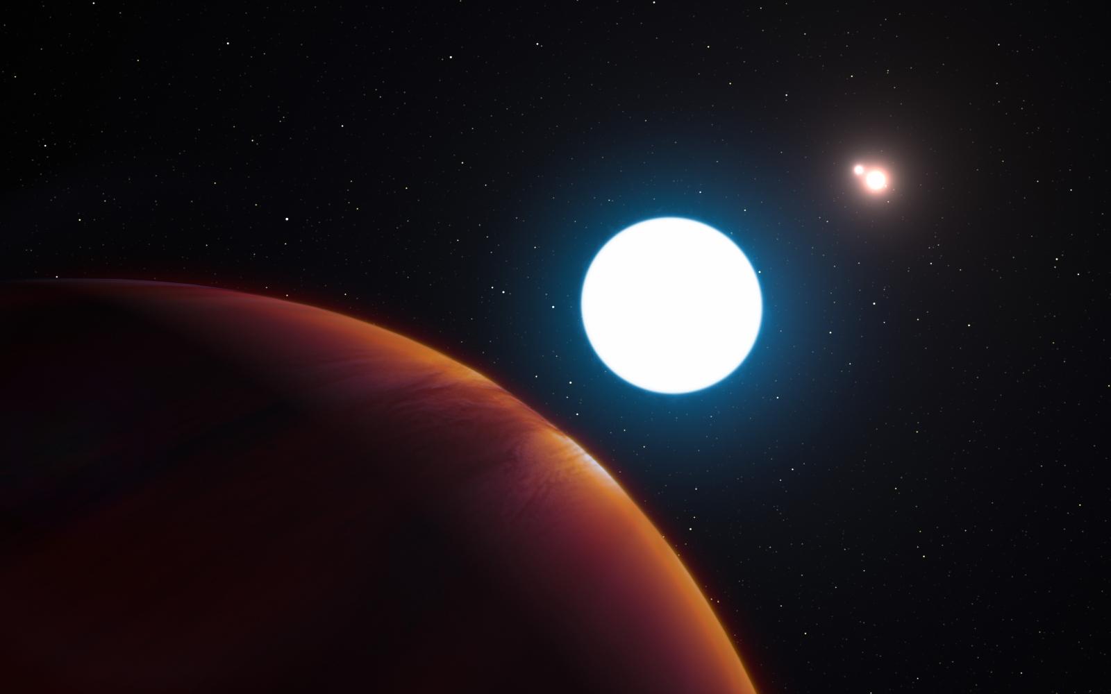 giant planet three stars