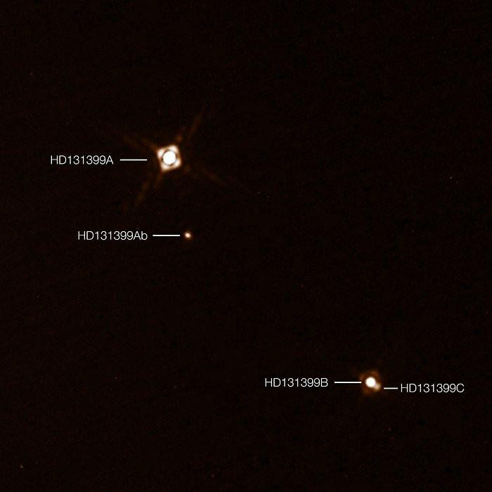 HD 131399Ab planet three stars