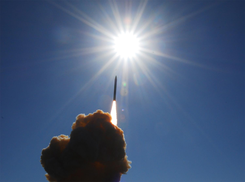 Ground-based Midcourse Defense interceptor in action