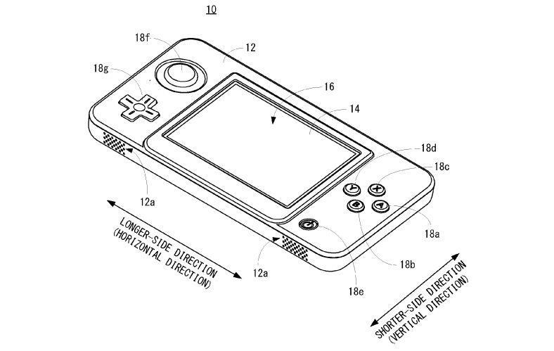 Nintendo handheld patent