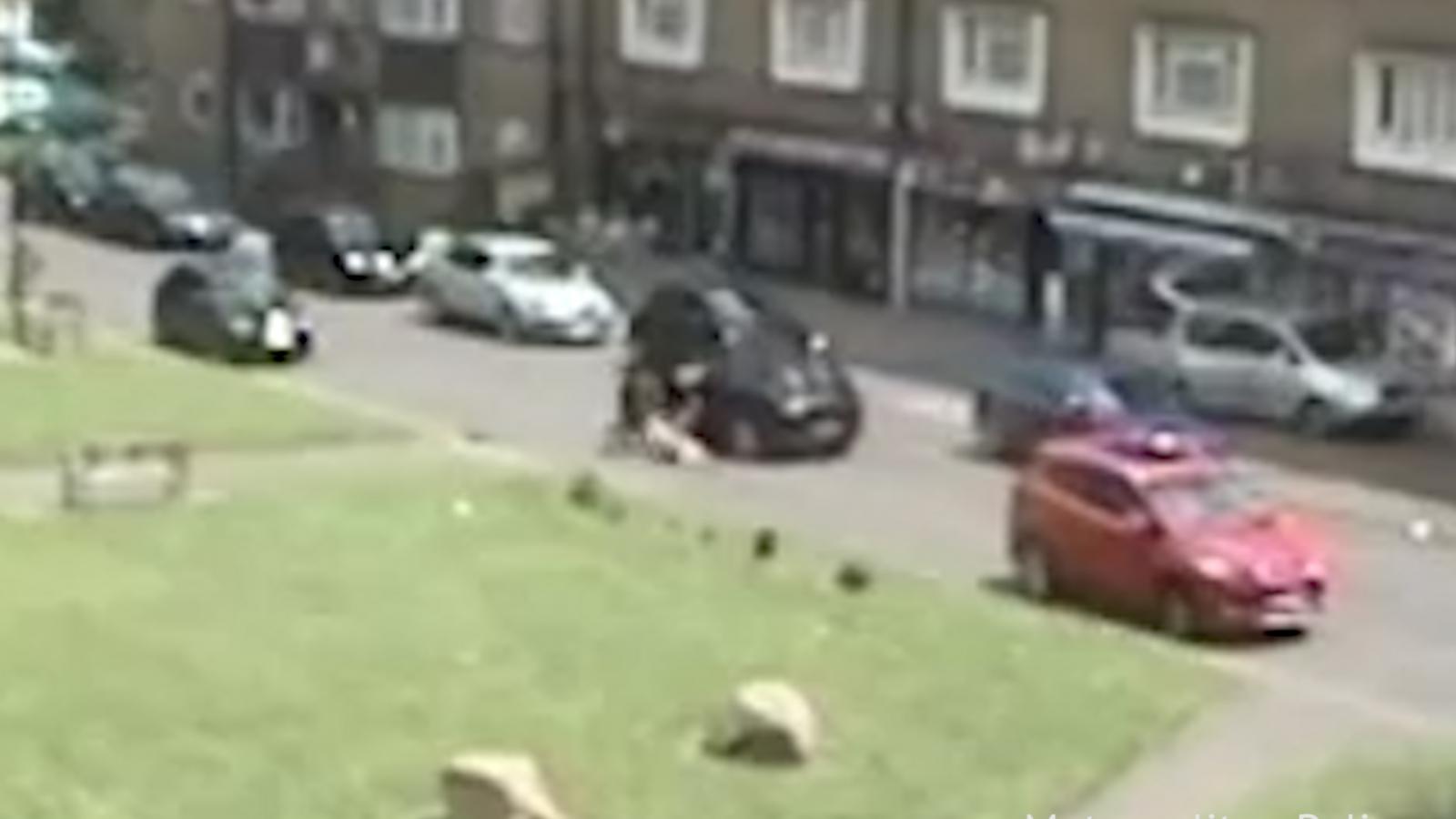 CCTV footage of car being stolen