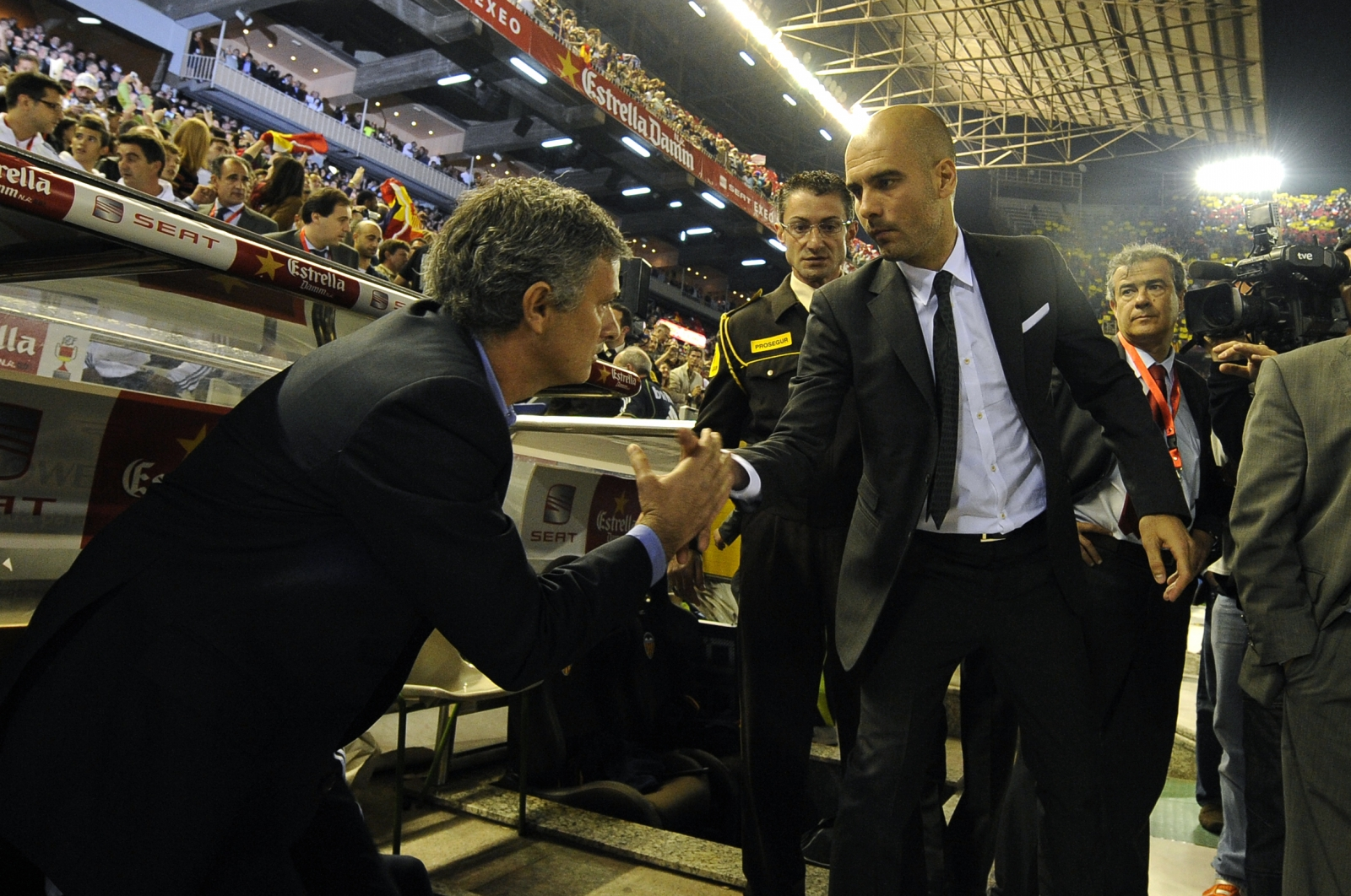 Pep Guardiola and Jose Mourinho