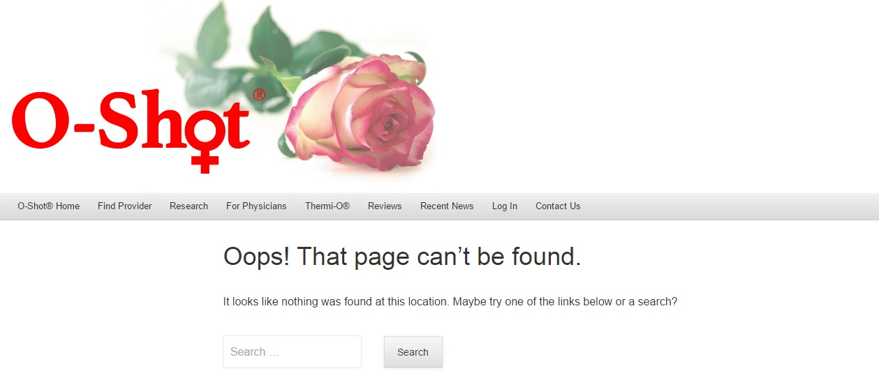 o-shot page not found