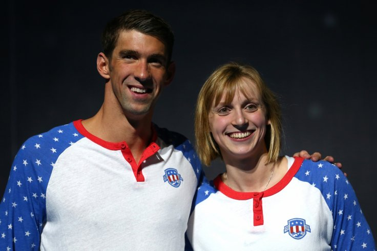 Katie Ledecky and Michael Phelps