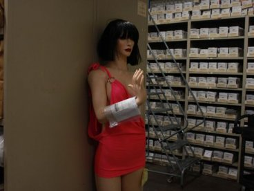 Solen mannequin in evidence locker