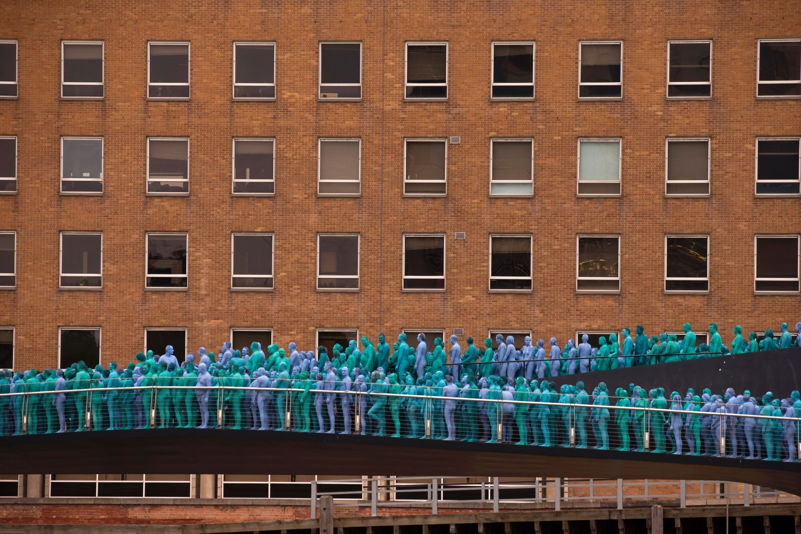Hull naked art installation