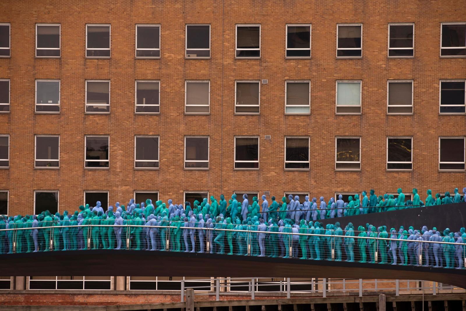Hull naked art installation