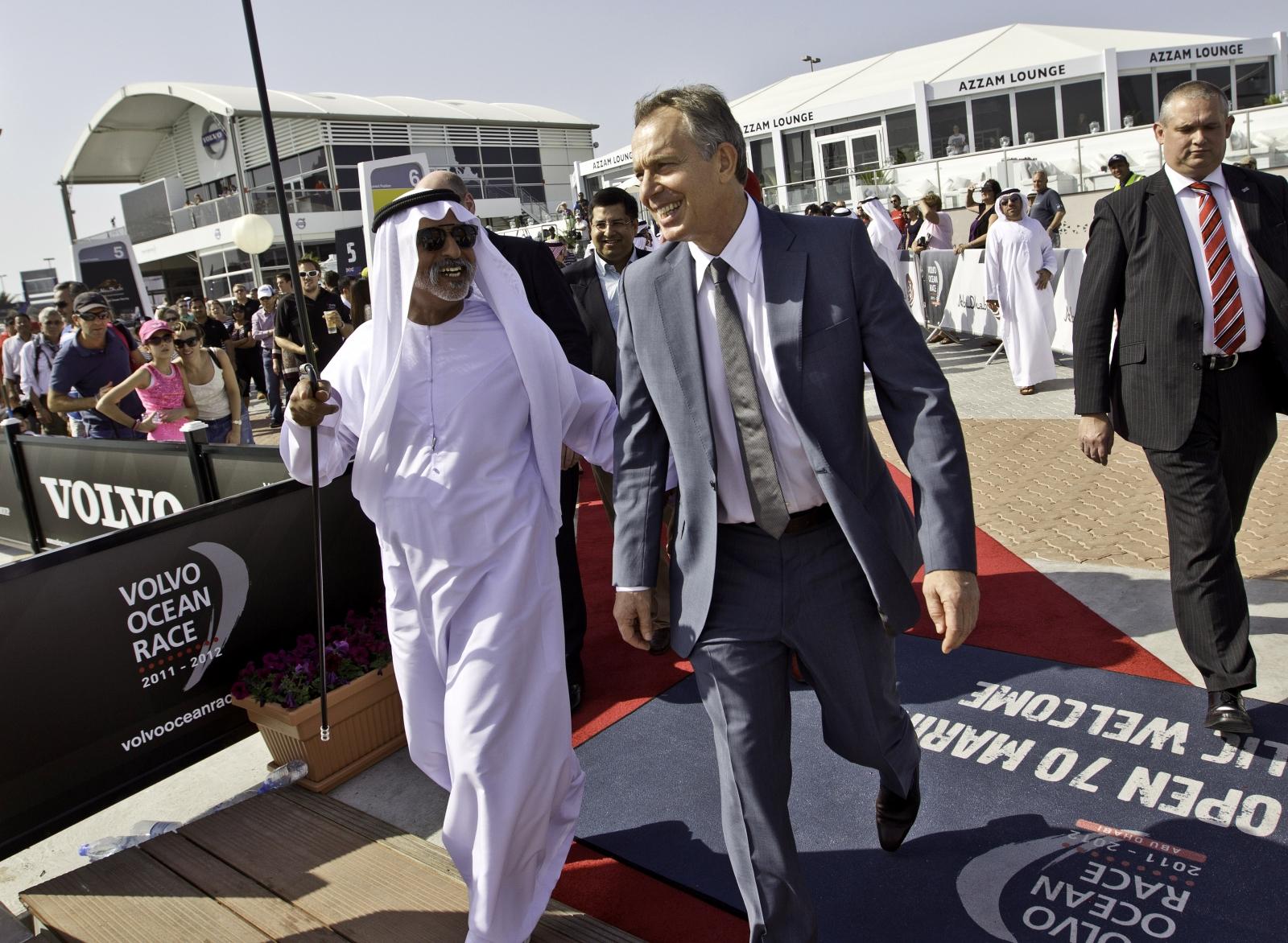tony blair UAE Mubarak Al Nahyan
