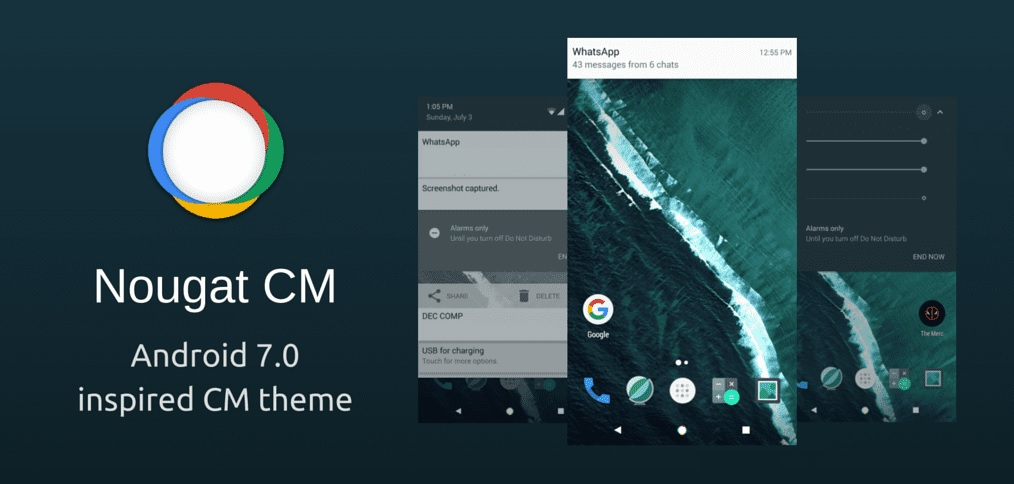 CM theme based on Android 7.0 Nougat