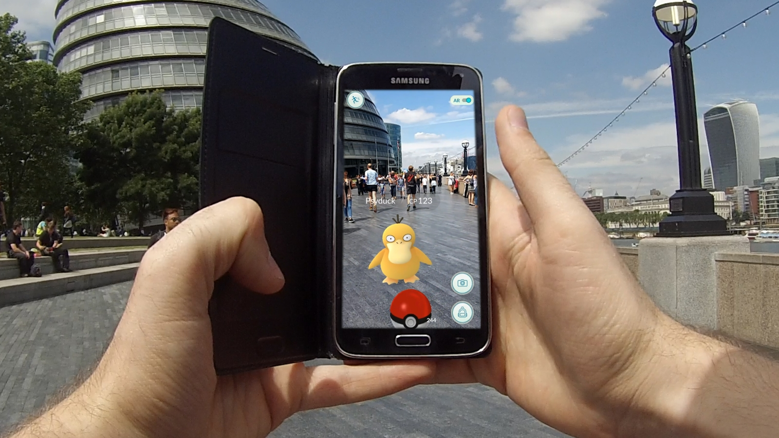 Pokemon Go demo in London