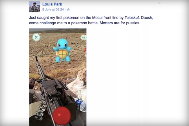 Pokemon Go US Soldier Iraq