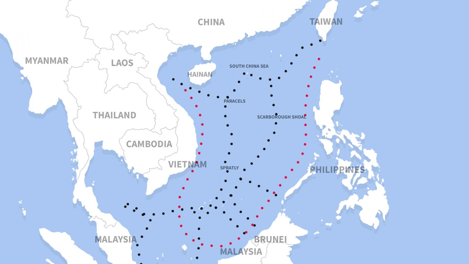 South China Sea dispute map