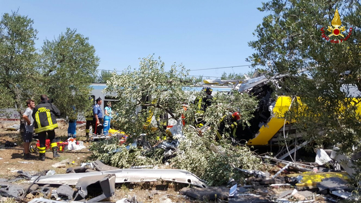 Italy train crash
