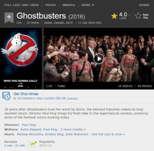 Ghostbusters 2016 IMDb