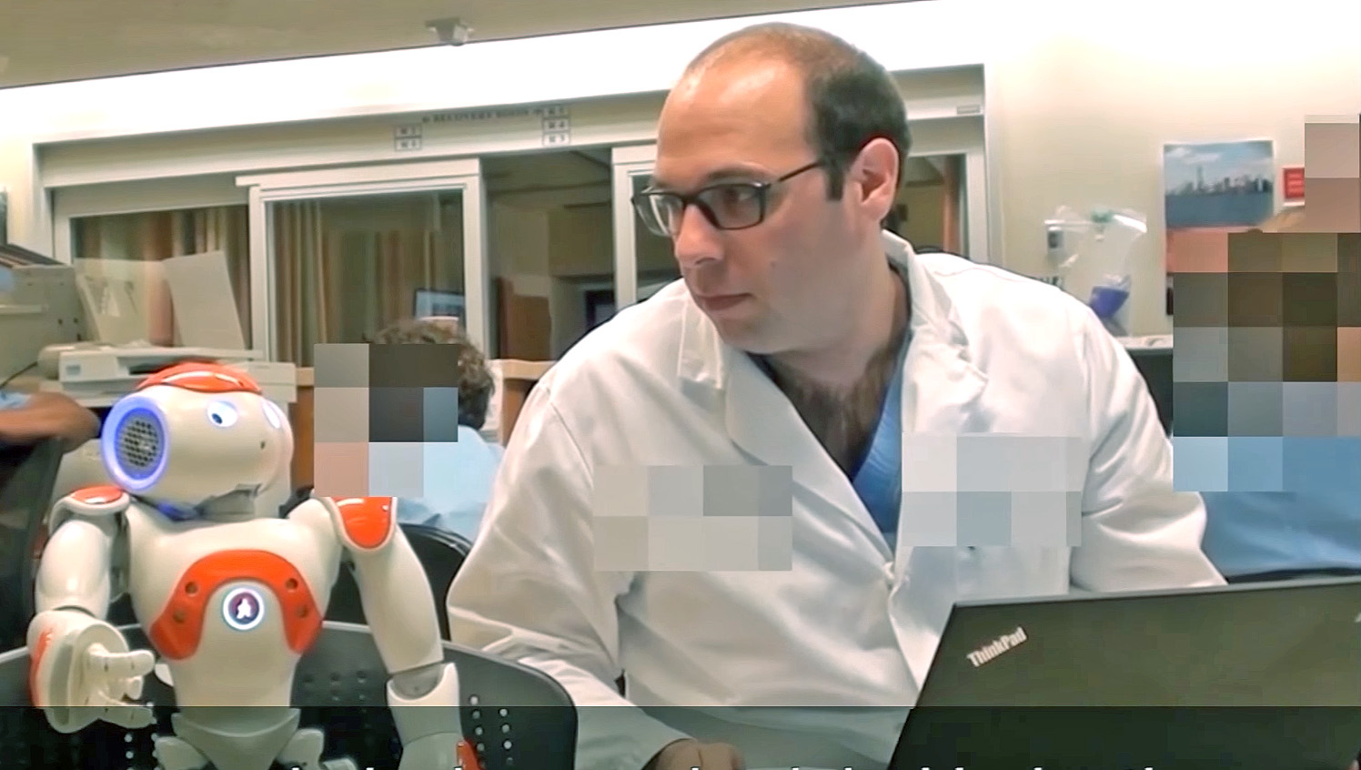 Nao robot advises a doctor on scheduling