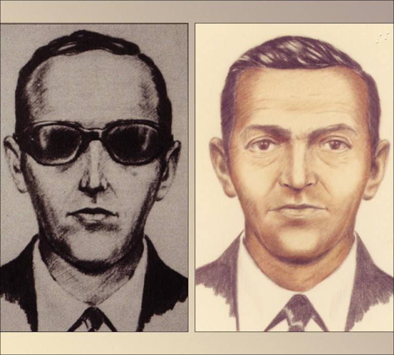 Artists sketches of D.B. Cooper