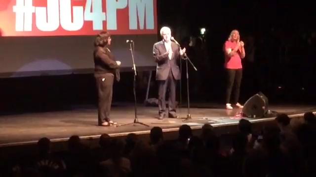John McDonnell swears at rally