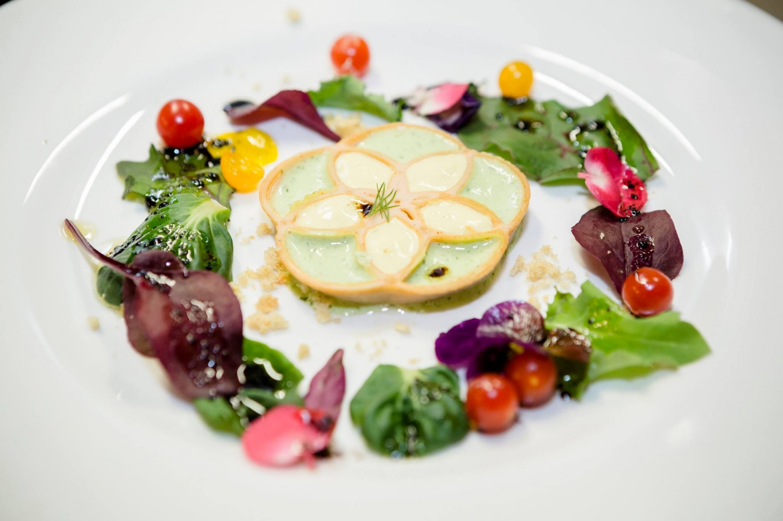 """Caesar's Flower of Life"" at Food Ink"