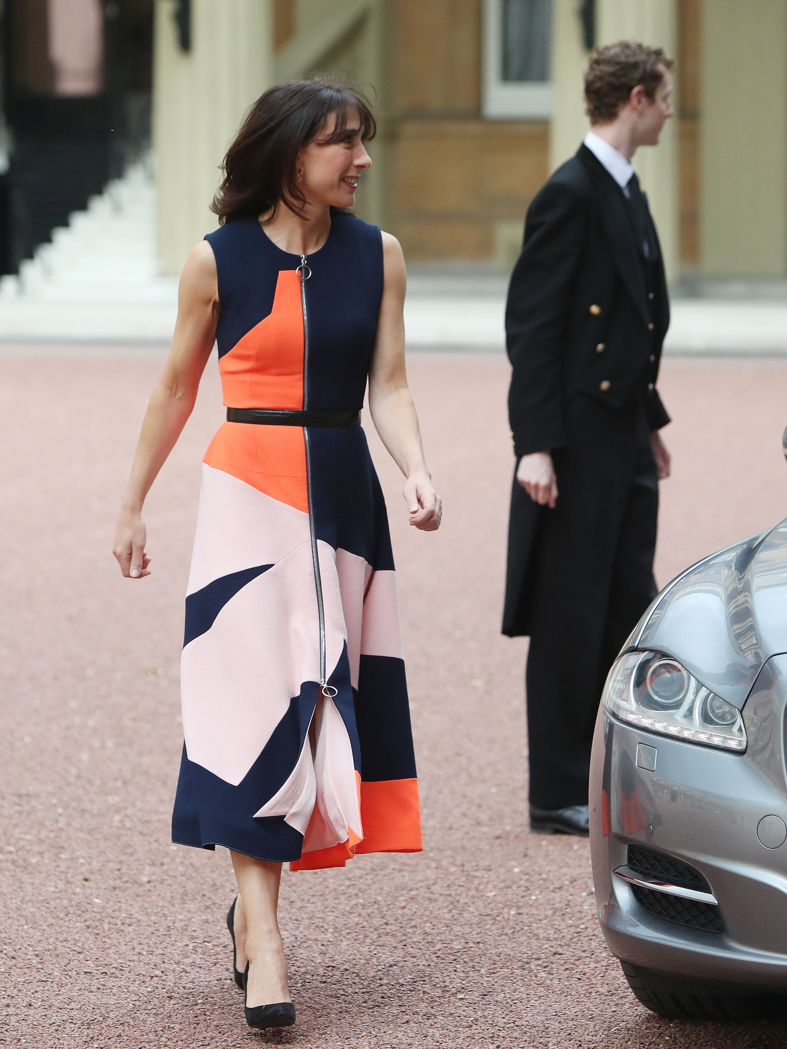Samantha Cameron leaves Downing Street in Roksanda