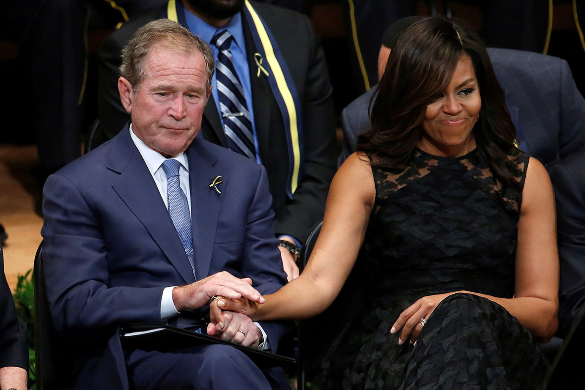 george w bush opens up about friendship with michelle
