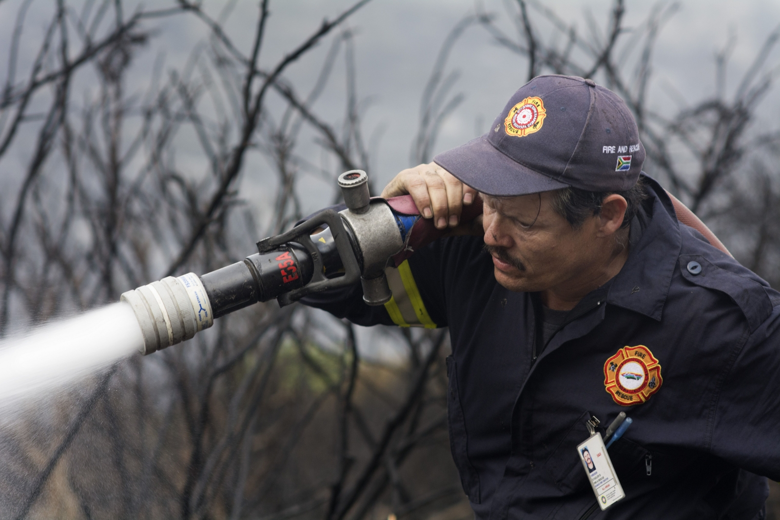 South African fire fighter