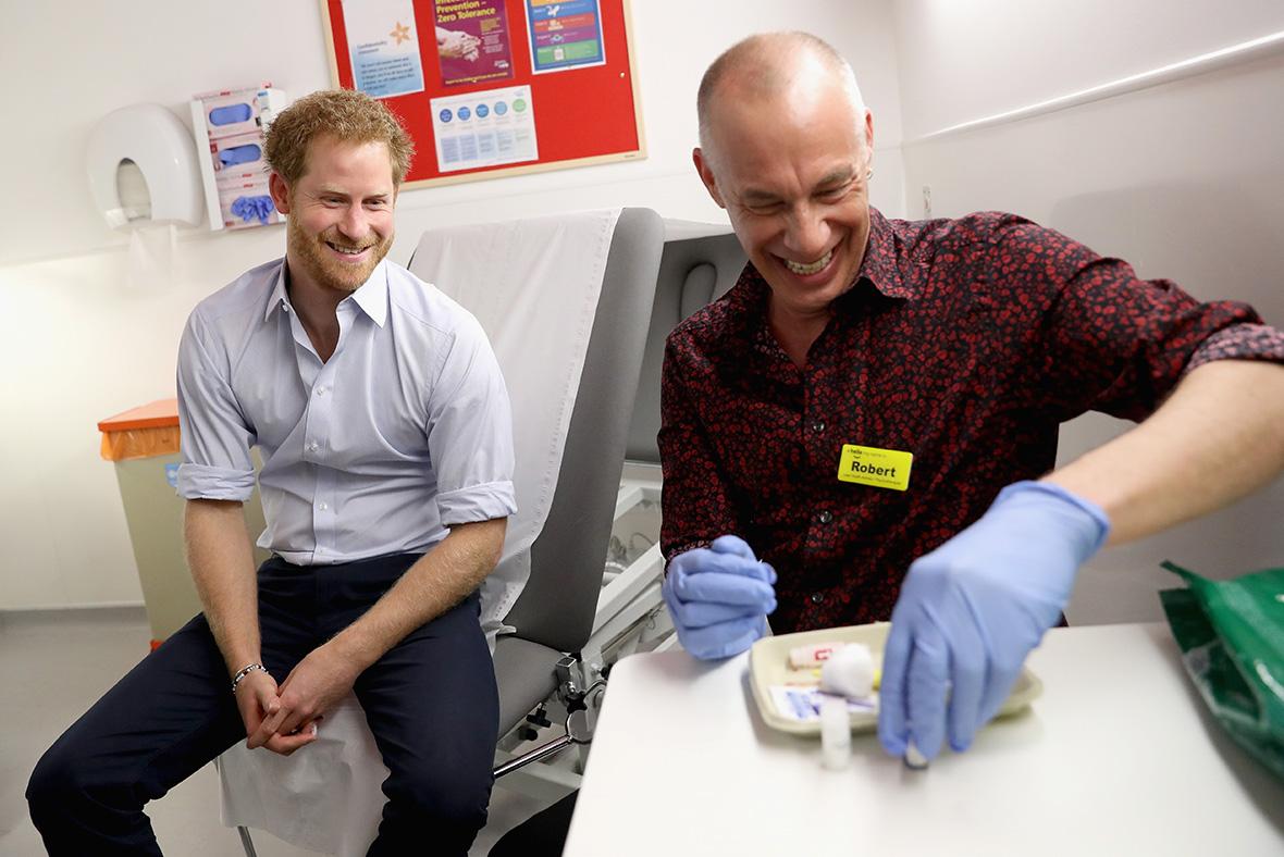 Prince Harry HIV test