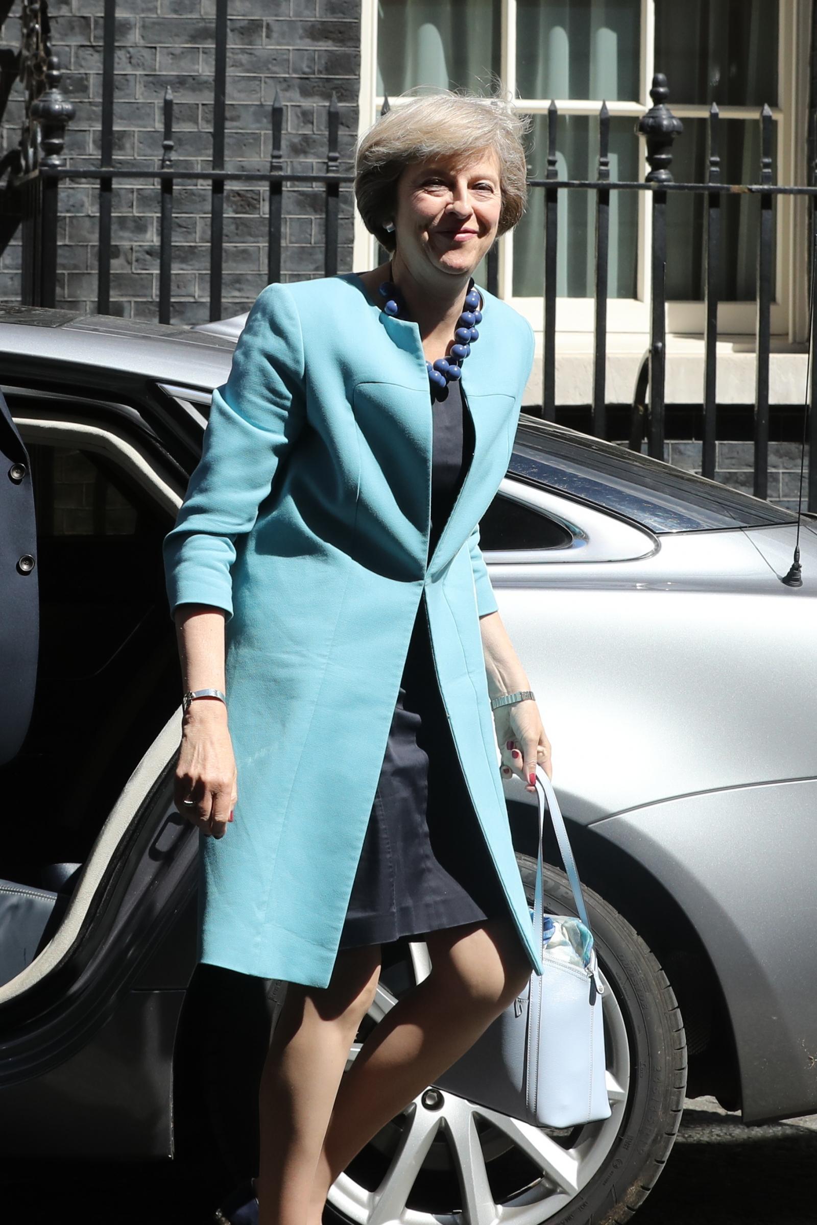 theresa may in british designers