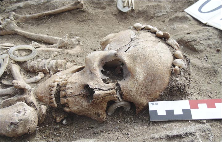 National Business Group On Health >> Siberian archaeologists find 5,000-year-old skeleton couple affectionately holding hands