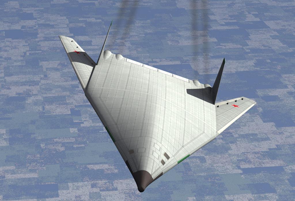 PAK-DA stealth bomber render