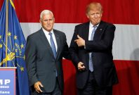 Donald Trump and Mike Pence