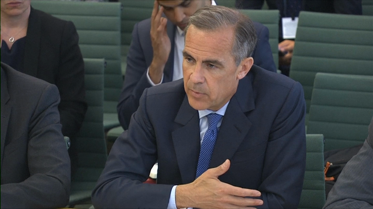 Bank of England Govenor Mark Carney hints at more post-Brexit stimulus