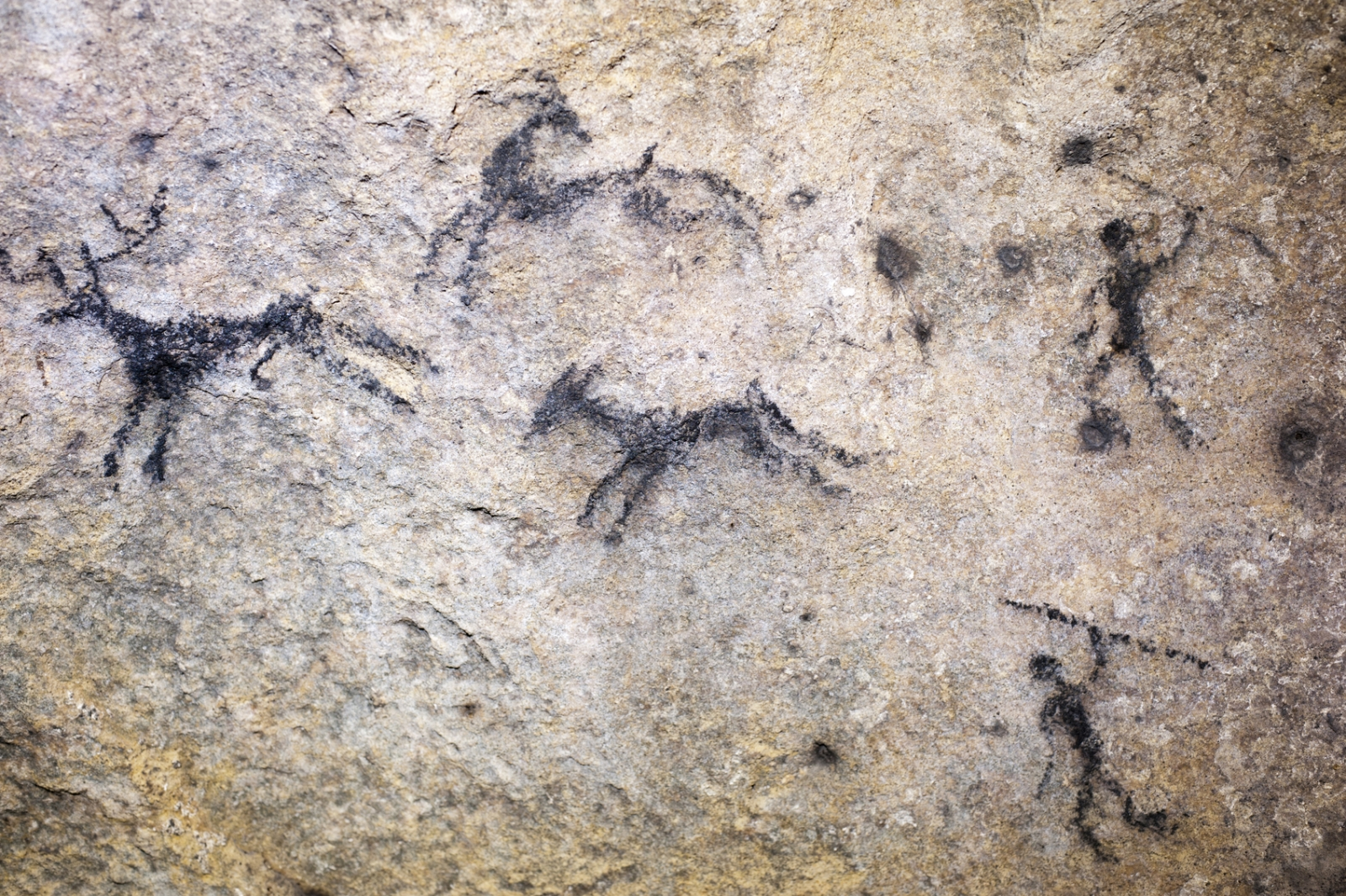 hunter gatherer cave art painting