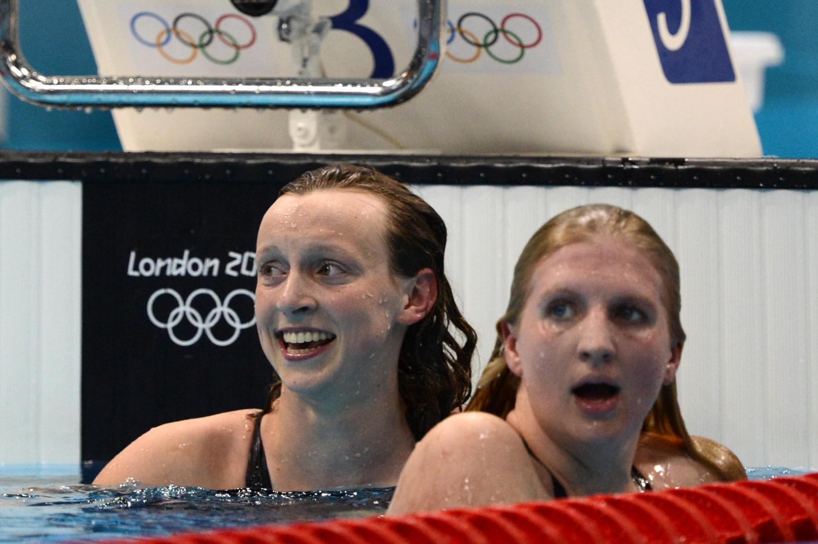 Katie Ledecky and Rebecca Adlington